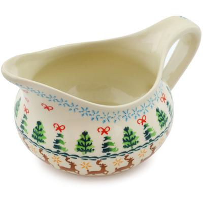 Polish Pottery 19 oz Gravy Boat | Boleslawiec Stoneware | Polmedia H4228I
