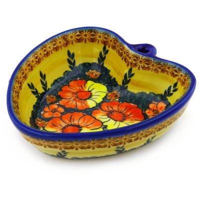 Polish Pottery 6-inch Heart Shaped Bowl | Boleslawiec Stoneware | Polmedia H0749F