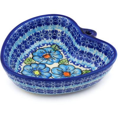 Polish Pottery 6-inch Heart Shaped Bowl | Boleslawiec Stoneware | Polmedia H0722H