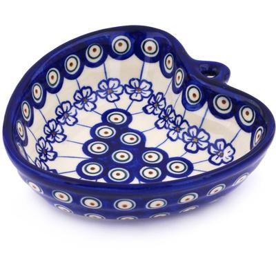 Polish Pottery 6-inch Heart Shaped Bowl | Boleslawiec Stoneware | Polmedia H7863G