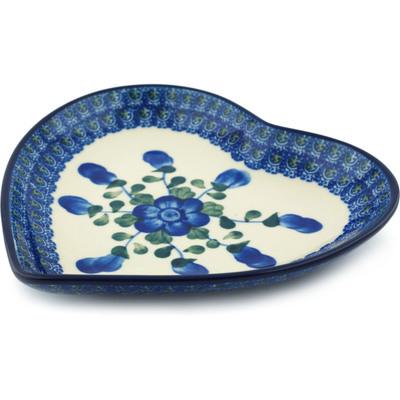 Polish Pottery 7-inch Heart Shaped Platter | Boleslawiec Stoneware | Polmedia H5007I