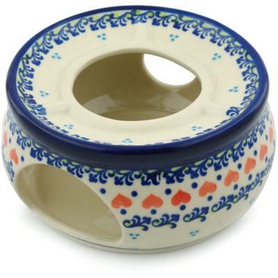 Polish Pottery 6-inch Heater | Boleslawiec Stoneware | Polmedia H9859H