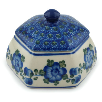 Polish Pottery 4-inch Jar with Lid | Boleslawiec Stoneware | Polmedia H2830A