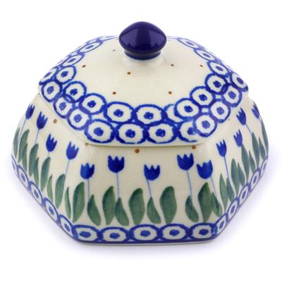 Polish Pottery 4-inch Jar with Lid | Boleslawiec Stoneware | Polmedia H7191I
