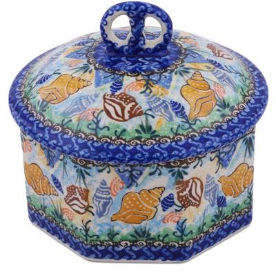 Polish Pottery 6-inch Jar with Lid | Boleslawiec Stoneware | Polmedia H0559G