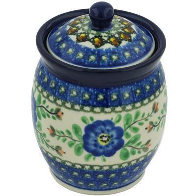 Polish Pottery 5-inch Jar with Lid | Boleslawiec Stoneware | Polmedia H8435G