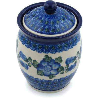 Polish Pottery 5-inch Jar with Lid | Boleslawiec Stoneware | Polmedia H4287B