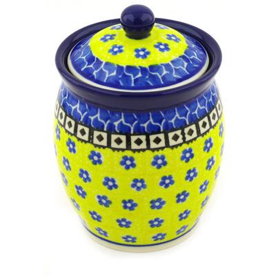 Polish Pottery 5-inch Jar with Lid | Boleslawiec Stoneware | Polmedia H6874F