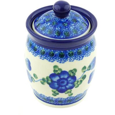 Polish Pottery 4-inch Jar with Lid | Boleslawiec Stoneware | Polmedia H4974G