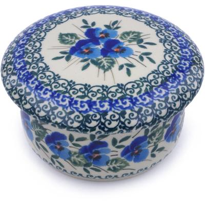 Polish Pottery 4-inch Jar with Lid   Boleslawiec Stoneware   Polmedia H0798J