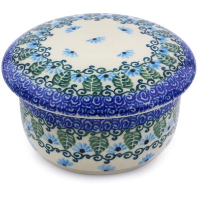 Polish Pottery 4-inch Jar with Lid | Boleslawiec Stoneware | Polmedia H0696I