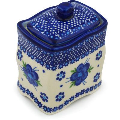 Polish Pottery 4-inch Jar with Lid | Boleslawiec Stoneware | Polmedia H0969H