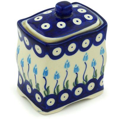 Polish Pottery 4-inch Jar with Lid | Boleslawiec Stoneware | Polmedia H1288H