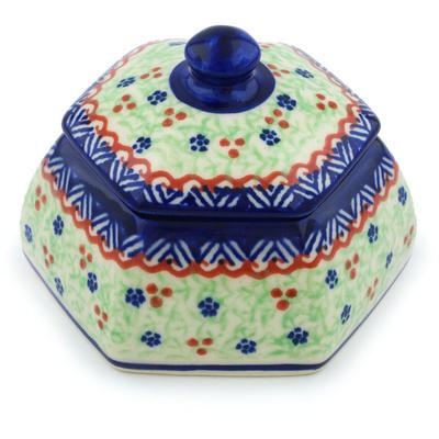 Polish Pottery 4-inch Jar with Lid | Boleslawiec Stoneware | Polmedia H3731H