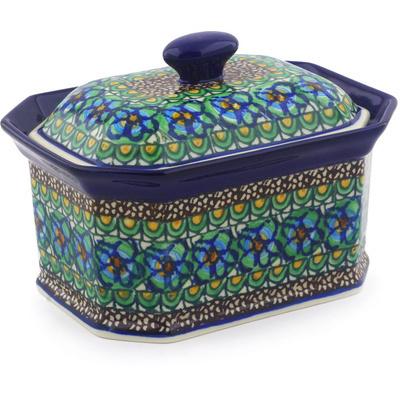 Polish Pottery 6-inch Jar with Lid | Boleslawiec Stoneware | Polmedia H9509E