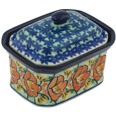 Polish Pottery 4-inch Jar with Lid | Boleslawiec Stoneware | Polmedia H8379G