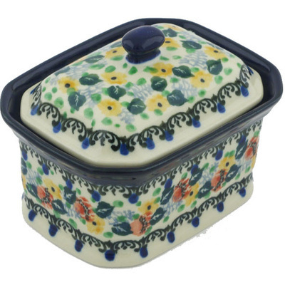 Polish Pottery 4-inch Jar with Lid | Boleslawiec Stoneware | Polmedia H8482G