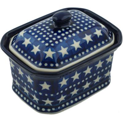 Polish Pottery 4-inch Jar with Lid | Boleslawiec Stoneware | Polmedia H6940H