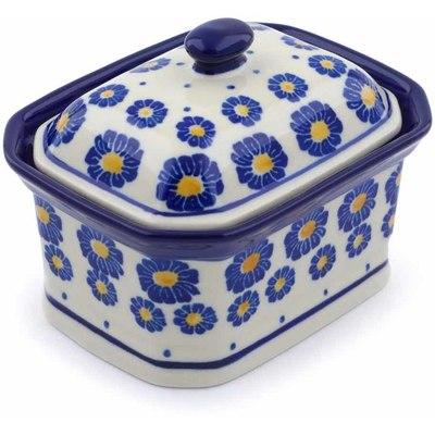 Polish Pottery 4-inch Jar with Lid | Boleslawiec Stoneware | Polmedia H0331J