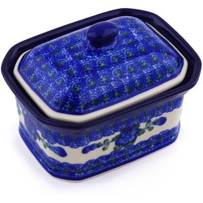 Polish Pottery 4-inch Jar with Lid | Boleslawiec Stoneware | Polmedia H5509A