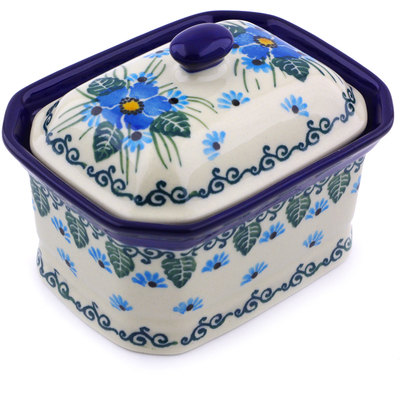 Polish Pottery 4-inch Jar with Lid | Boleslawiec Stoneware | Polmedia H0747I