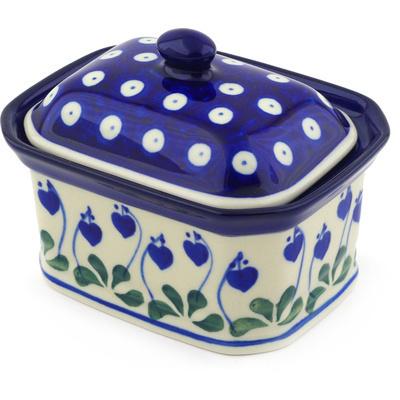 Polish Pottery 4-inch Jar with Lid | Boleslawiec Stoneware | Polmedia H4110E