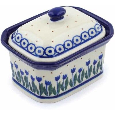 Polish Pottery 4-inch Jar with Lid | Boleslawiec Stoneware | Polmedia H0623J