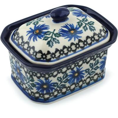 Polish Pottery 4-inch Jar with Lid | Boleslawiec Stoneware | Polmedia H7381B