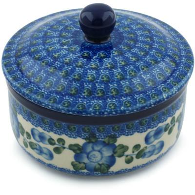 Polish Pottery 5-inch Jar with Lid | Boleslawiec Stoneware | Polmedia H4106I