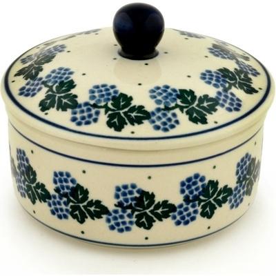 Polish Pottery 5-inch Jar with Lid   Boleslawiec Stoneware   Polmedia H5689A