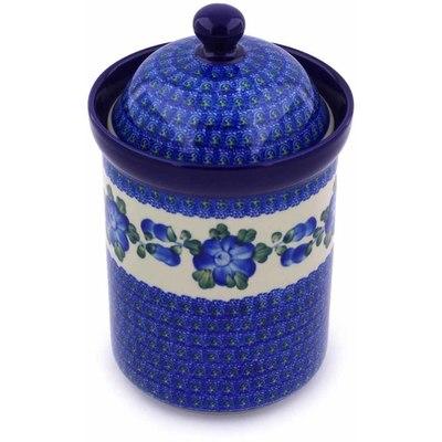 Polish Pottery 9-inch Jar with Lid | Boleslawiec Stoneware | Polmedia H1216B