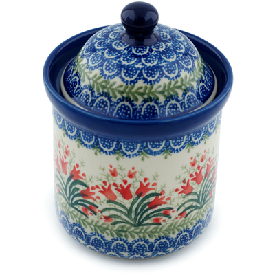 Polish Pottery 6-inch Jar with Lid | Boleslawiec Stoneware | Polmedia H0427I