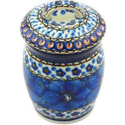 Polish Pottery 4-inch Jar with Lid | Boleslawiec Stoneware | Polmedia H6251G