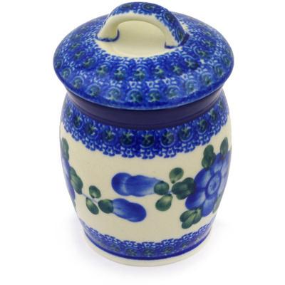 Polish Pottery 4-inch Jar with Lid | Boleslawiec Stoneware | Polmedia H6864F