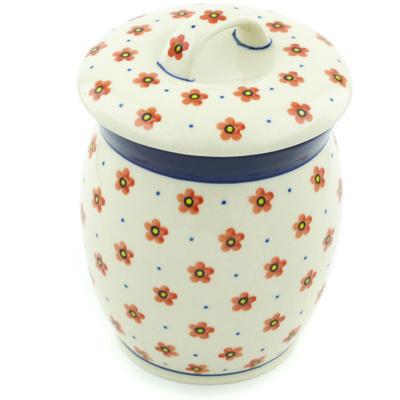 Polish Pottery 6-inch Jar with Lid | Boleslawiec Stoneware | Polmedia H6581H