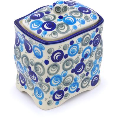 Polish Pottery 6-inch Jar with Lid   Boleslawiec Stoneware   Polmedia H1395J
