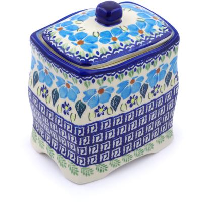 Polish Pottery 6-inch Jar with Lid | Boleslawiec Stoneware | Polmedia H1388J