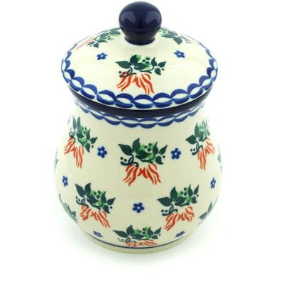 Polish Pottery 6-inch Jar with Lid | Boleslawiec Stoneware | Polmedia H5815H