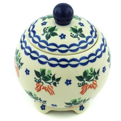 Polish Pottery 5-inch Jar with Lid | Boleslawiec Stoneware | Polmedia H5362H
