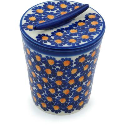 Polish Pottery 5-inch Jar with Lid | Boleslawiec Stoneware | Polmedia H9490H