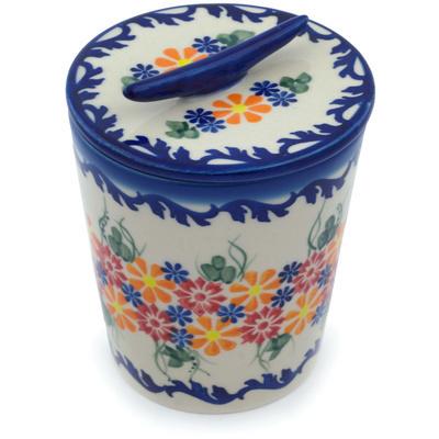 Polish Pottery 5-inch Jar with Lid | Boleslawiec Stoneware | Polmedia H9489H