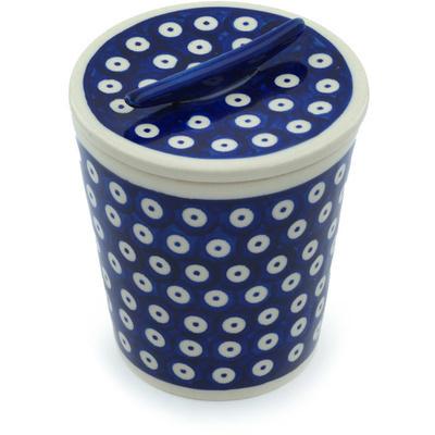 Polish Pottery 5-inch Jar with Lid | Boleslawiec Stoneware | Polmedia H9491H