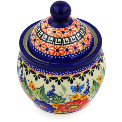 Polish Pottery 5-inch Jar with Lid | Boleslawiec Stoneware | Polmedia H3092E