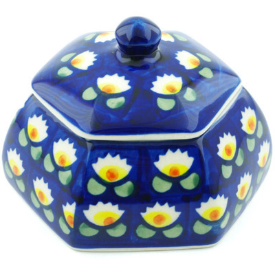 Polish Pottery 4-inch Jar with Lid | Boleslawiec Stoneware | Polmedia H9373H