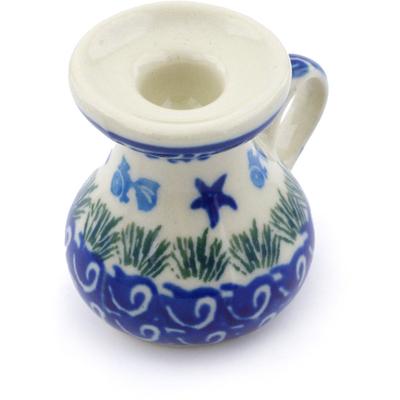 Polish Pottery 2-inch Mini Candle Holder | Boleslawiec Stoneware | Polmedia H3140C