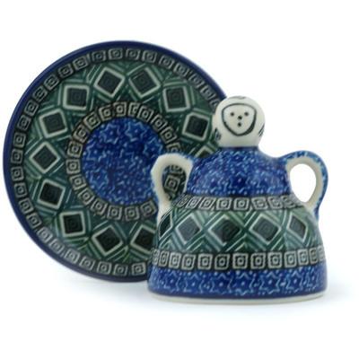 Polish Pottery 4-inch Mini Cheese Lady | Boleslawiec Stoneware | Polmedia H6849H