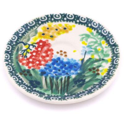 Polish Pottery 3-inch Mini Saucer   Boleslawiec Stoneware   Polmedia H5992G