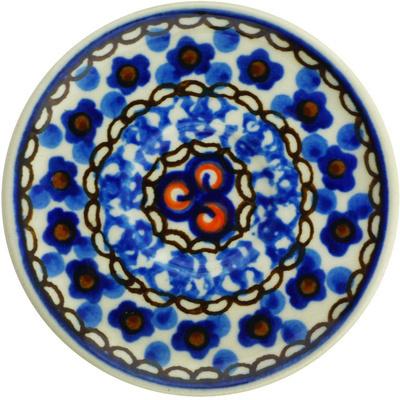 Polish Pottery 3-inch Mini Saucer   Boleslawiec Stoneware   Polmedia H6601G