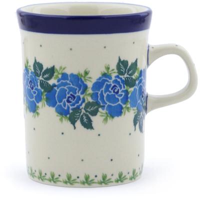 Polish Pottery 8 oz Mug   Boleslawiec Stoneware   Polmedia H1152J