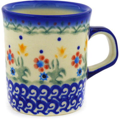 Polish Pottery 5 oz Mug   Boleslawiec Stoneware   Polmedia H3851E